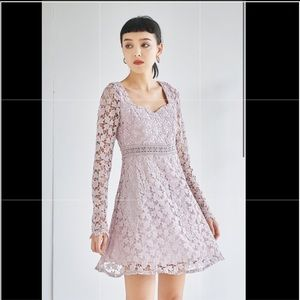 Forever Yours Lace Dress in Pink